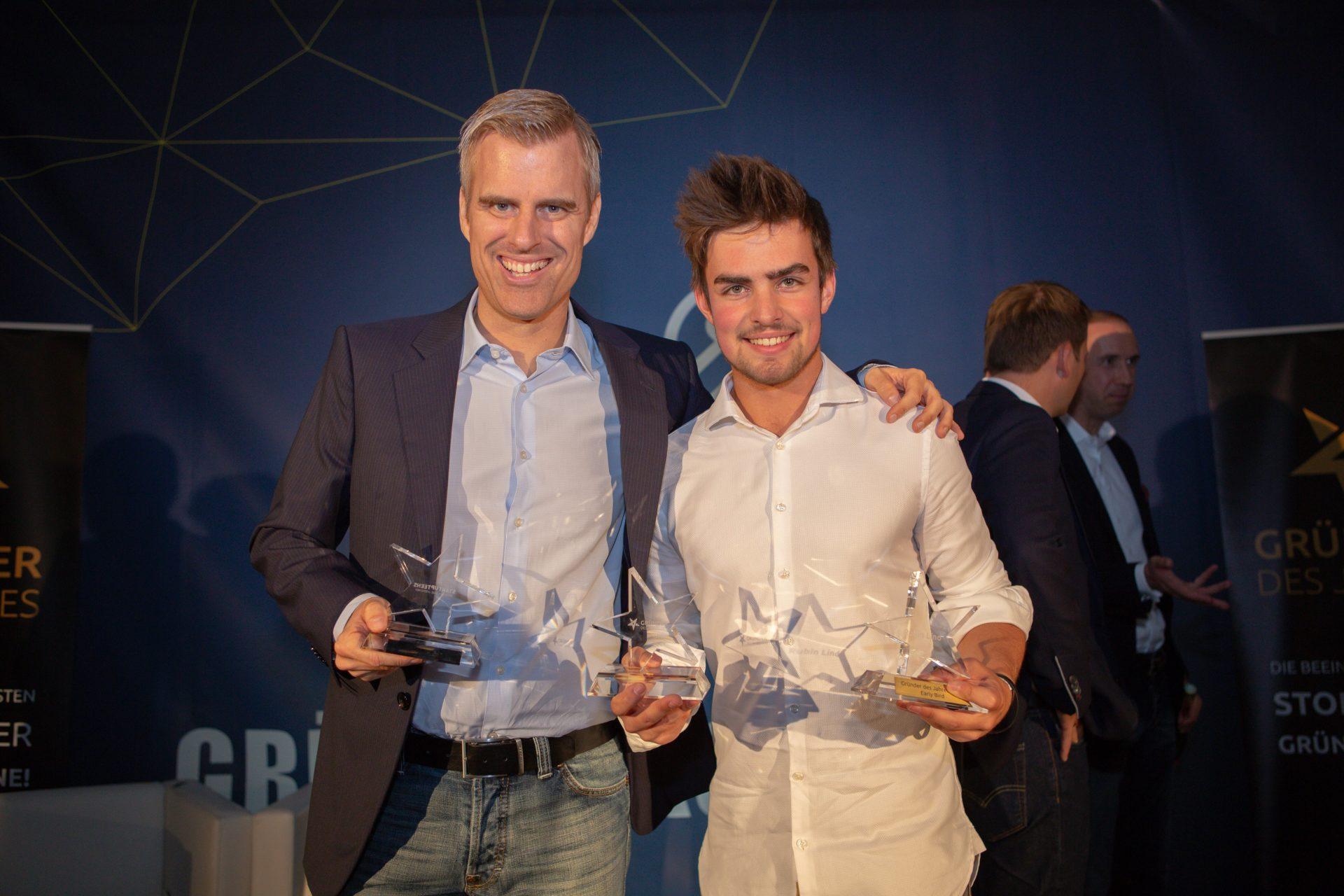 Award-Verleihung 2018: Hauke Schwiezer (Startup Teens) Rubin Lind (Skills4School)