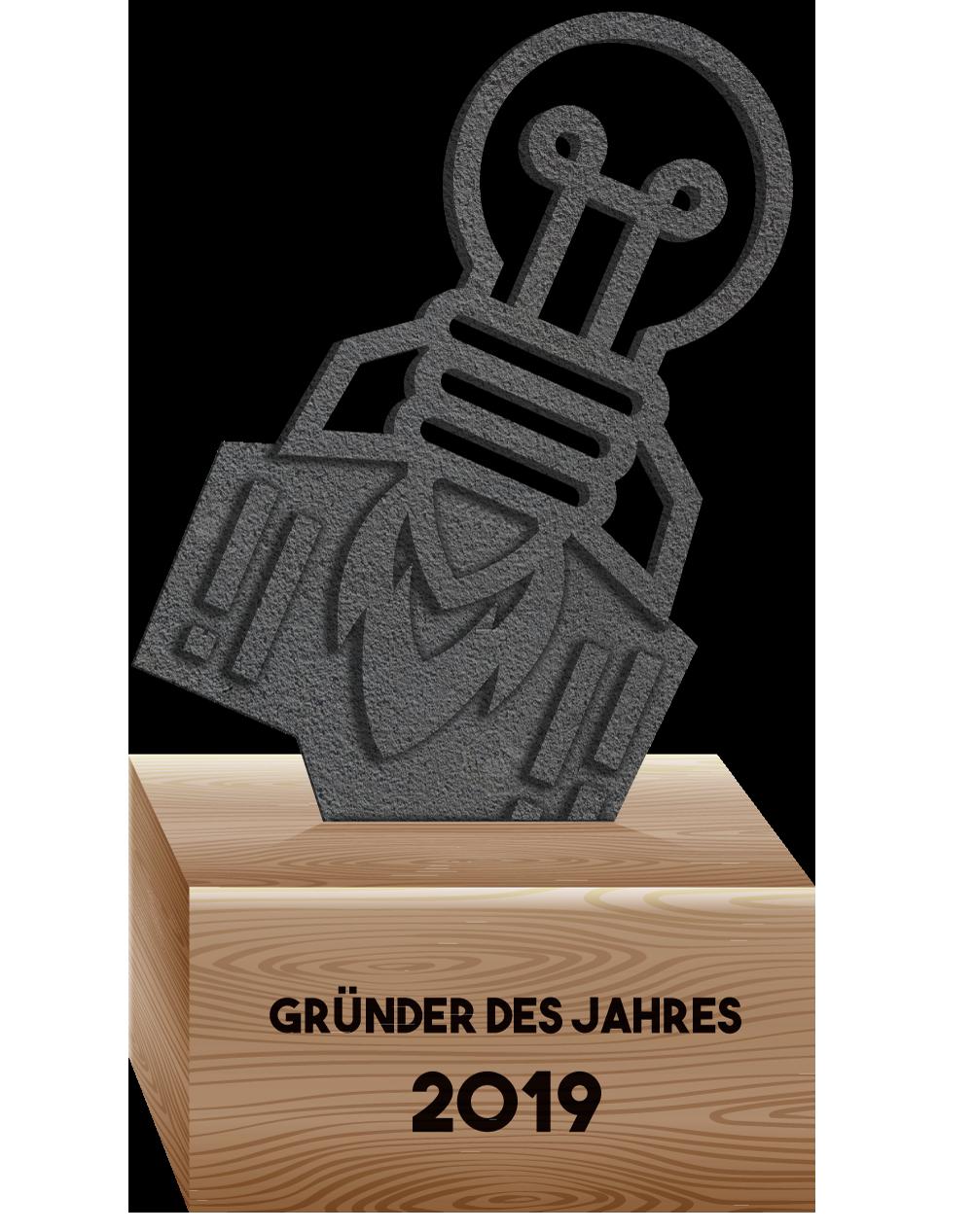 Award: Gründer des Jahres 2019